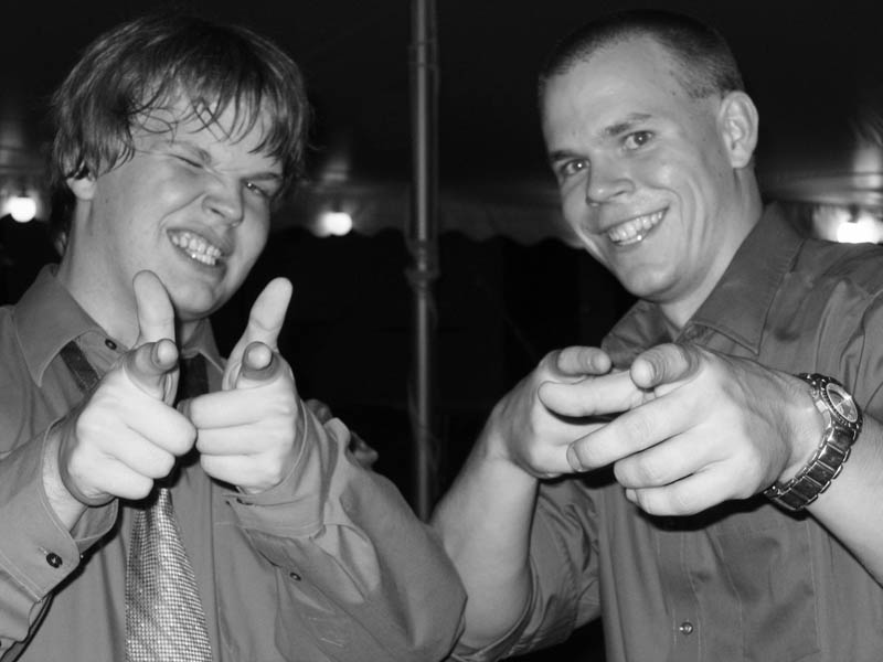 Photo of my cousins Joel Beary and Nicholas Beary at my wedding.